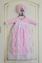 Katie Rose Newborn Take Home Gown Pink Leila (Size 6Mos)