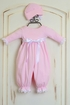 Katie Rose Pink Baby Girl Romper and Hat SOLD OUT Alternate View