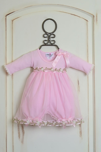 Katie Rose Pink Bloomer Dress Long Sleeve (NB & 6Mos)