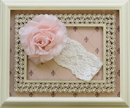 Katie Rose Pink Flower Ivory Headband