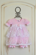 Katie Rose Pink Lace Baby Dress (Size 9Mos)