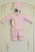 Katie Rose Pink Newborn Take Me Home Outfit (Size 6Mos)