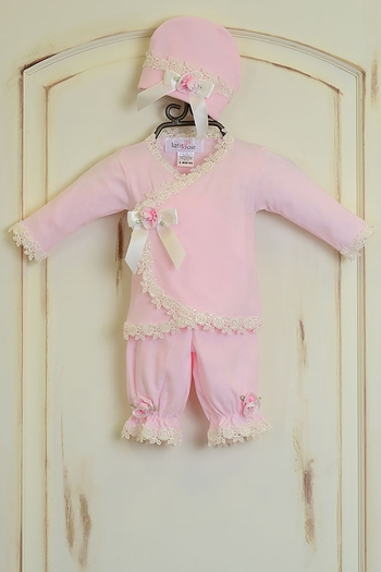 Katie Rose Pink Newborn Take Me Home Outfit (Size Newborn)