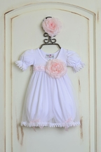 Katie Rose White Baby Dress Special Occasion (NB,6Mos,9Mos)