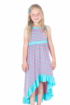 Kickee Pants Anniversary Stripe Hi Low Dress (4T & 8)