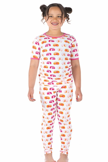 Kickee Pants Bamboo Pajamas with Campers SOLD OUT