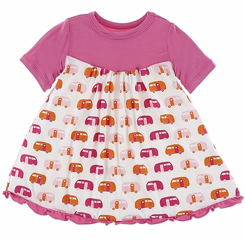 Kickee Pants Dress with Campers