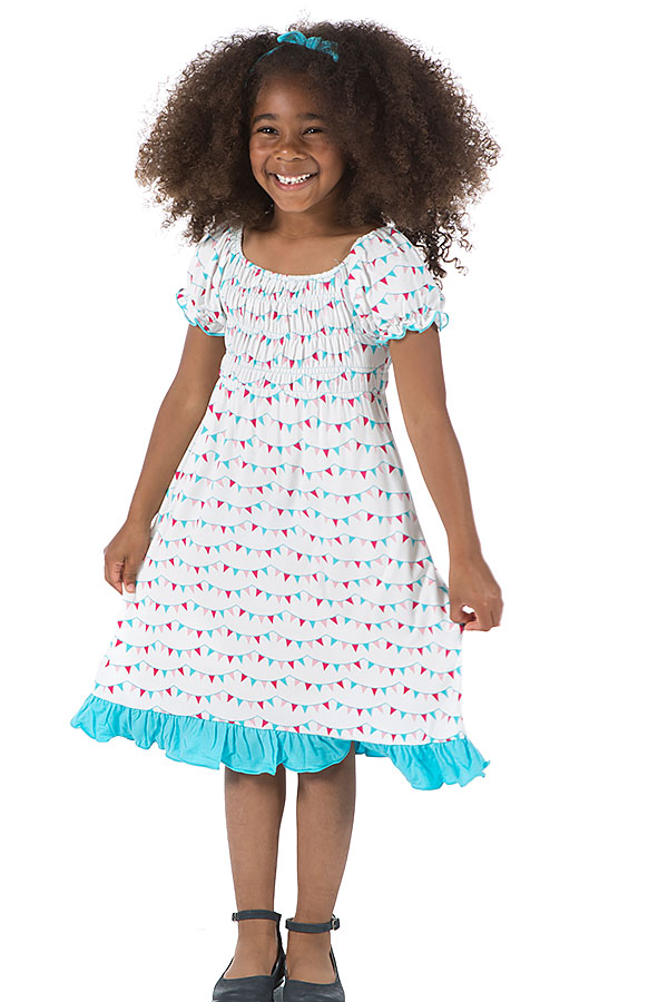 Kickee Pants Girls Dress Party Flags