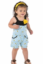 Kickee Pants Girls Romper Pond Bees (Size 8)