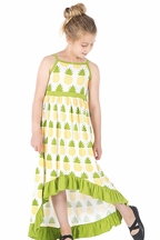 Kickee Pants Hi Low Dress Pineapple (Size 5)
