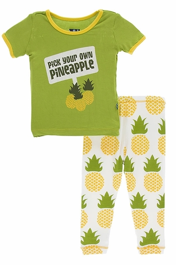 Kickee Pants Pineapple Pajama Set (Size 5)