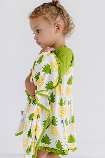 Kickee Pants Pineapple Swing Dress (NB & 0-3Mos)