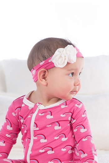 Kickee Pants Rainbow Headband Flamingo