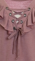 Kiddo Ruffled Top for Tweens Mauve SOLD OUT Alternate View #2