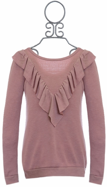 Kiddo Ruffled Top for Tweens Mauve SOLD OUT