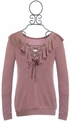 Kiddo Ruffled Top for Tweens Mauve SOLD OUT Alternate View