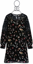 Kiddo Tween Floral Dress in Black (MD 10 & LG 12)