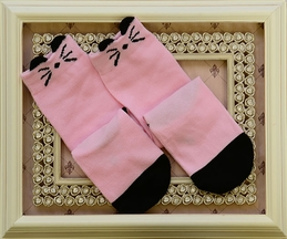 Kitty Whisker Pink Socks