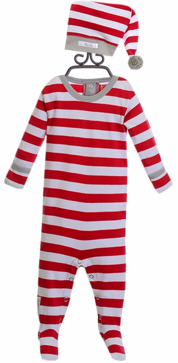L'oved Baby Footie Candy Cane