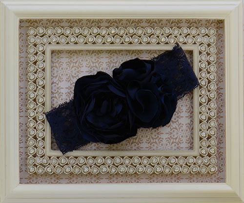 Baby Girls Labella Flora Navy Headband Save With Our Sale
