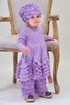 Lemon Loves Lime Baby Ruffle Dress in Purple (Size 0-3Mos) Alternate View #3