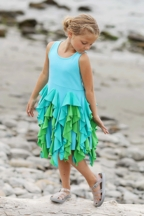 Lemon Loves Lime Bright Blossom Blue Dress (Size 2)