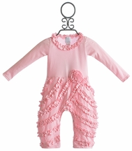 Lemon Loves Lime Peony Romper for Girls in Pink (Size 12-18Mos)