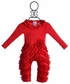 Lemon Loves Lime Peony Romper in Red (0-3Mos,3-6Mos,12-18Mos) Alternate View #3