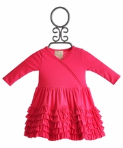 Lemon Loves Lime Pink Infant Dress Jada Ruffles (0-3Mos,3-6Mos,6-12Mos)