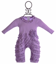 Lemon Loves Lime Ruffle Baby Romper Lilac Peony (Size 18-24Mos)