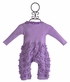 Lemon Loves Lime Ruffle Baby Romper Lilac Peony (Size 18-24Mos) Alternate View