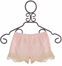 Little Mass Pink Lace Shorts (10 & 14)