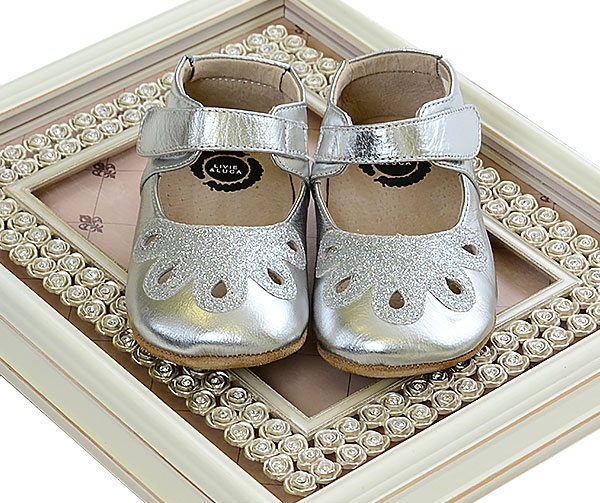246e5f0459e4 ... Livie and Luca Baby Petal in Silver INFANT Alternate View  2