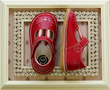 Livie and Luca Girls Bunny Shoes in Red SOLD OUT