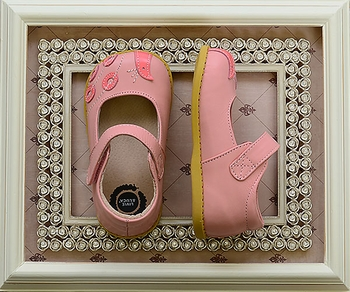 Livie and Luca - Light Pink Peacock Shoes (Size 5)