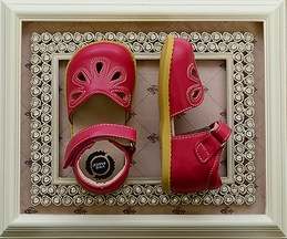 Livie and Luca Petal Shoes in Hot Pink (4i,8,2Y,3Y)