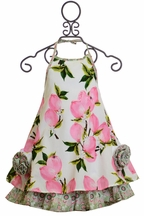 Mack & Co Peach and Paisly Sundress (2T,5,8)