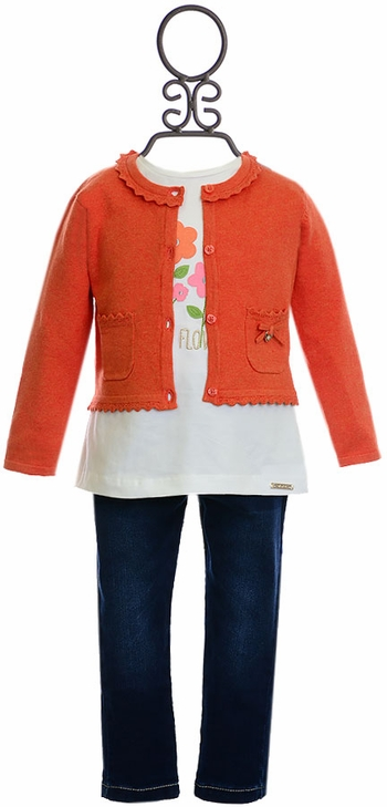 Mayoral Autumn Flowers Infant Outfit (Size 24Mos)