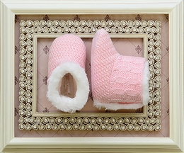 Mayoral Baby Booties in Light Pink (Infant 0 & 3)