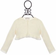 Mayoral Baby Cardigan in Ivory (Size 1-2Mos)
