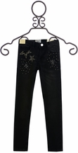Mayoral Black Distressed Jeans with Stars (Size 8)