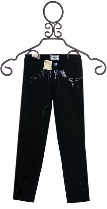 Mayoral Black Distressed Pants with Sequins (Size 10)