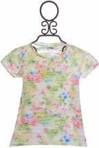 Mayoral Floral Print T-Shirt for Girls (Size 2)
