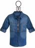 Mayoral Girls Denim Shirt with Beads (Size 12) Alternate View