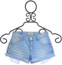 Mayoral Girls Denim Shorts Light Wash (Size 6)