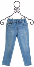 Mayoral Infant Denim with Gold Detail (Size 36Mos)