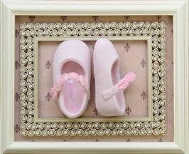 Mayoral Light Pink Infant Shoe with Rosettes