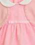 Mayoral Pink Baby Dress with Collar (Size 1-2Mos) Alternate View #2