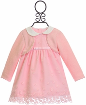 Mayoral Pink Baby Dress with Collar (Size 1-2Mos)