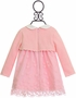 Mayoral Pink Baby Dress with Collar (Size 1-2Mos) Alternate View